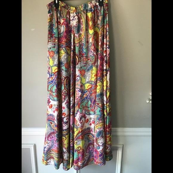 Cupio Dresses & Skirts - Gorgeous BoHo Maxi Skirt Cupio NWT Sz Large